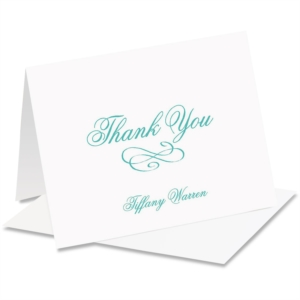 Tiffany Personalized Thank You NoteCards by PaperDirect