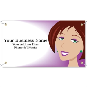 Blunt Hairstyle Vinyl Banners by PaperDirect