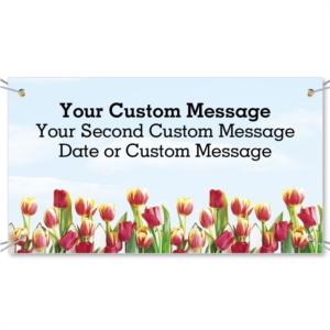 Tulip Garden Vinyl Banners by PaperDirect