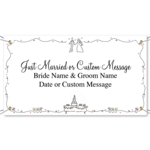 Wedding Couple Vinyl Banners by PaperDirect