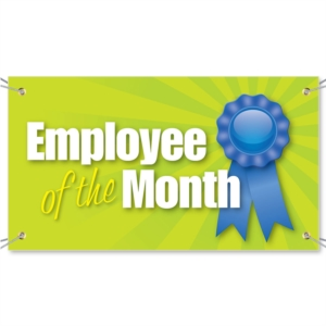 Employee of the Month Vinyl Banners by PaperDirect