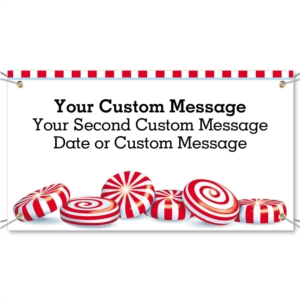 Peppermint Discs Vinyl Banners by PaperDirect