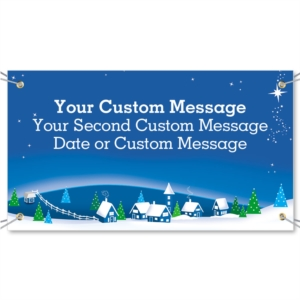 Snowy Village Vinyl Banners by PaperDirect