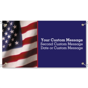 Wavy Flag Vinyl Banners by PaperDirect