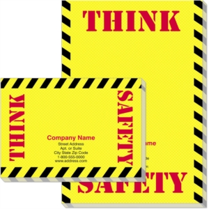 Think Safety Post-it® Notes by PaperDirect