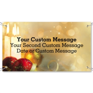 Season's Sparkle Vinyl Banners by PaperDirect