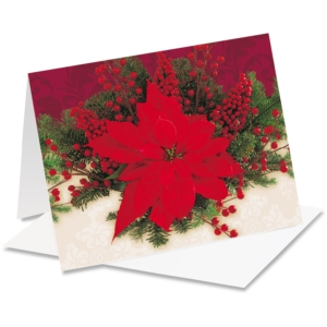 Pretty Poinsettia NoteCards by PaperDirect