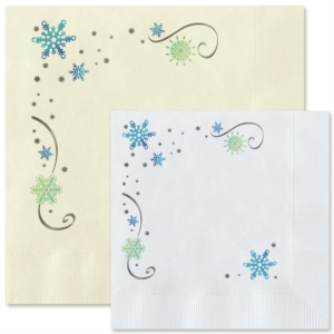 Snowflakes Personalized Napkins by PaperDirect