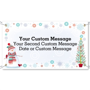 Snowman Delight Vinyl Banners by PaperDirect