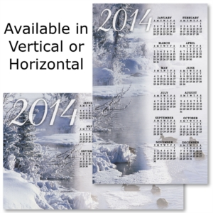 2014 Winter Custom Printed Magnetic Calendars by PaperDirect