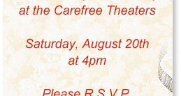 At The Movies Casual Invitations