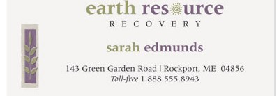 Earthtone Tiles Business Cards