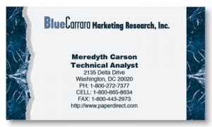 Blue Carrara Business Cards by PaperDirect