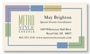 Metro Style Business Cards by PaperDirect