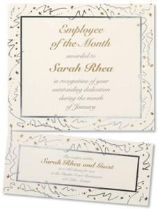 Sparkle Specialty LetterTop Certificates