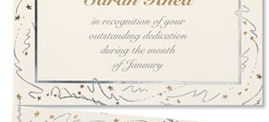 Sparkle Specialty LetterTop Certificates