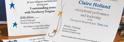 Stars Foil LetterTop Certificates