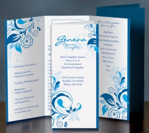 Blue Whisper 3 Panel Brochures