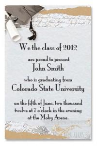 wording for graduation announcement