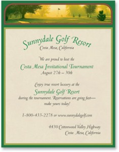 An insiders guide to hosting a golf tournament paperdirect blog back nine golf border papers by paperdirect yadclub Gallery
