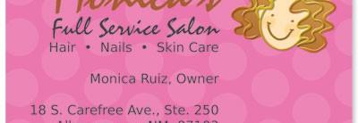 Beauty Hair Scissors Pink Business Cards