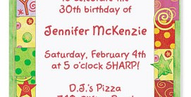 Birthday Bash Casual Invitations