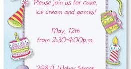 Birthday Party Casual Invitations