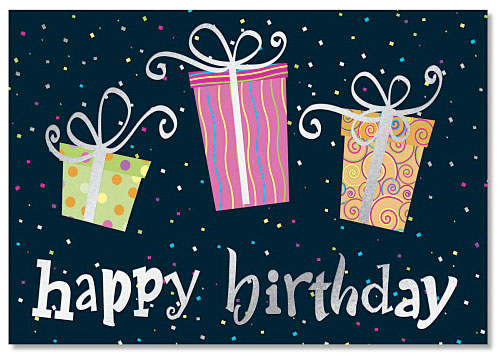 Birthday Gifts Deluxe Greeting Cards by PaperDirect