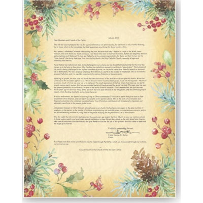 Sample business christmas letters for your first go around botanical joy border papers by paperdirect spiritdancerdesigns Images
