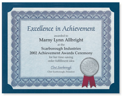 Make your own award certificates paperdirect blog traditional certificate papers yadclub Gallery