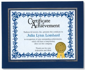 Affordable Recognition Printing Certificates In House