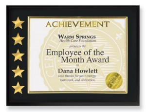 and while those who - Employee Of The Month Award
