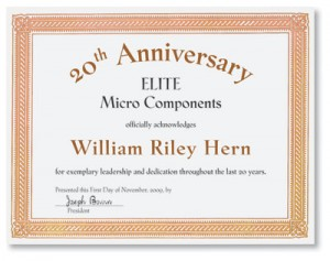 Certificate of appreciation templates for any occasion for Service anniversary certificate templates