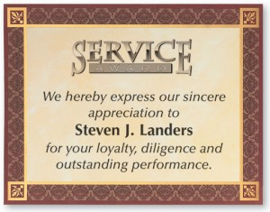 sample service award certificates