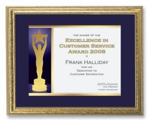 Statuette Specialty Certificates