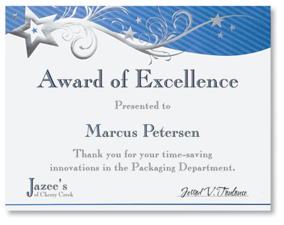 star gala specialty certificates by paperdirect