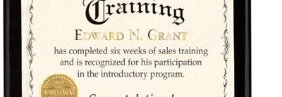 Delicate Standard Certificates