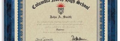 Pageantry Blue Standard Certificates