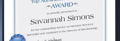 Ribbon Award Standard Certificates