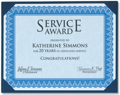 years of service certificate template