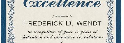 Intricate Scroll Standard Certificates