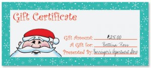 Kris Kringle Fill-In-The-Blank Gift Certificates by PaperDirect