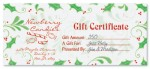 Sweet Holly Fill-In-The-Blank Gift Certificates by PaperDirect
