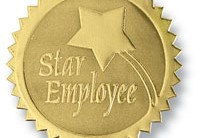 Star Employee Deluxe Embossed Foil Seals