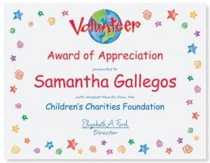 Volunteer appreciation on a small budget paperdirect blog volunteer casual certificates stopboris Image collections