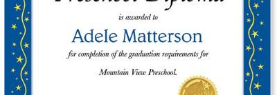 Classic Star Casual Certificates