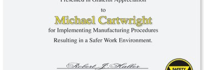 Safety Casual Certificates by PaperDirect