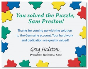 Puzzle Pieces Casual Certificates