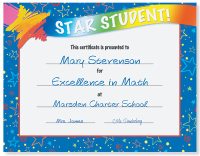 Star student award casual certificates paperdirect blog star student award casual certificates yelopaper Image collections