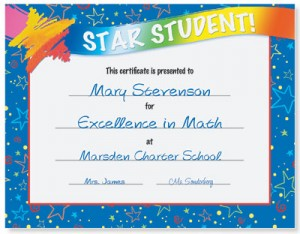 student of the year award certificate templates - perfect attendance certificates for star students